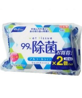 LIFE DO 除菌濕紙巾(含酒精)便攜裝 30片 x 2包