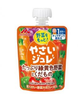 森永 綠黃色野菜水果果凍 70g