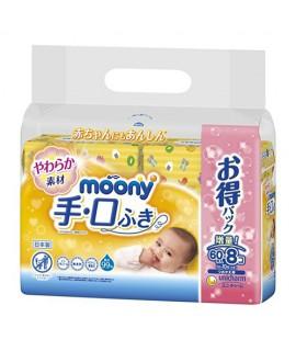 MOONY 手、口濕紙巾補充裝 60s X 8包