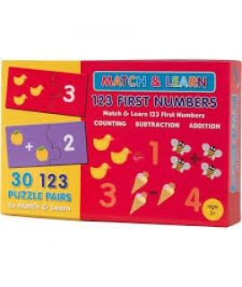 MATCH AND LEARN BOX - 123 FIRST NUMBERS