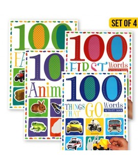 ACTIVITY BOOS WITH 100 BIG STICKERS SET (4 BOOKS)