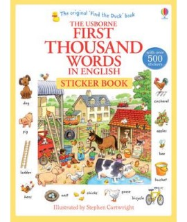 THE USBORNE FIRST THOUSAND WORDS IN ENGLISH STICKER BOOK