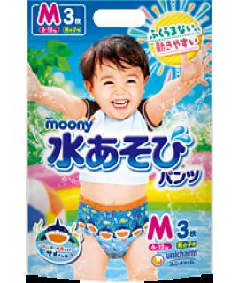 MOONY 游水紙尿褲 M 中碼男仔3片(7-10kg)