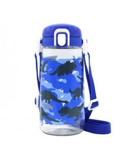 LEC 直飲水樽 - 附揹帶(恐龍) 450ML BPA FREE