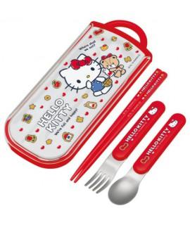 SKATER 日本製Hello Kitty 三件式餐具套裝