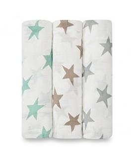 ADEN+ANAIS 銀河星星竹纖維包巾 (3PCS)