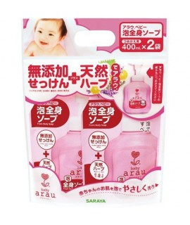 ARAU BABY 嬰兒沐浴泡泡 補充裝 400ML (2袋裝)