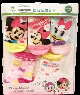 BABIESRUS Minnie&Daisy 兒童襪 (5對)