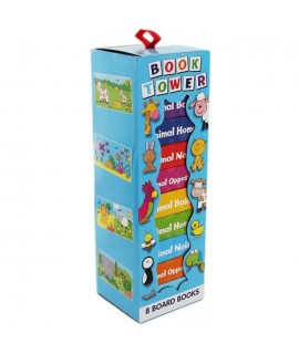 BOOK TOWER (8 BOARD BOOKS)