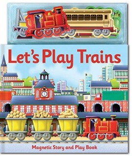 Magnetic Story and Play Let's Play Trains