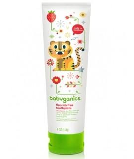 BABYGANICS 幼兒天然者喱牙膏 113g - 草莓