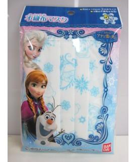 BANDAI魔雪奇緣 三層不織布小童口罩 5個裝 (90x125mm)