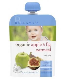 BELLAMY'S有機蘋果無花果燕麥果泥 90G