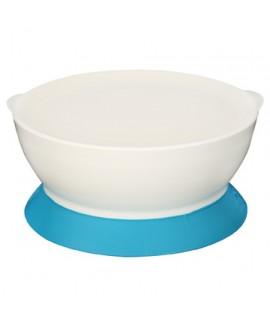 CALIBOWL 專利防漏防滑幼兒吸盤碗 (附蓋) 藍色 12OZ