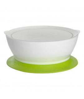 CALIBOWL 專利防漏防滑幼兒吸盤碗 (附蓋) 綠色 12OZ