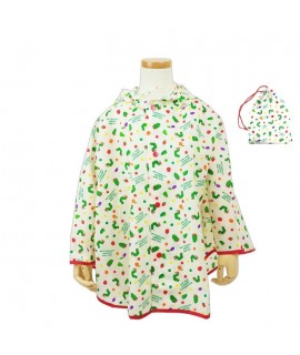 COME-ACROSS ERIC CARLE 斗蓬式小童雨衣 白色 110cm