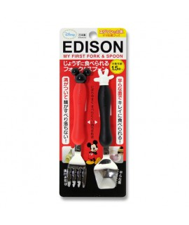 EDISON 米奇不銹鋼防滑學習叉匙套裝