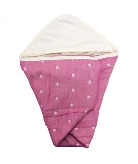 ETOFFA 日本製6重紗包布 粉紅蝴蝶