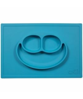 EZPZ Happy Mat 台墊+笑臉餐碟 - 彩藍