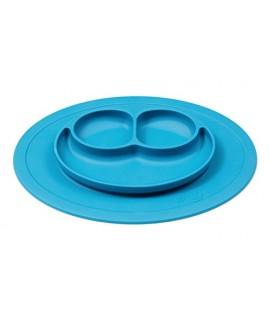 EZPZ Mini Mat 迷你台墊+笑臉餐碟 - 彩藍
