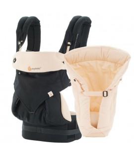 ERGOBABY 四式360嬰兒揹帶 + 心連心嬰兒護墊 (黑色)