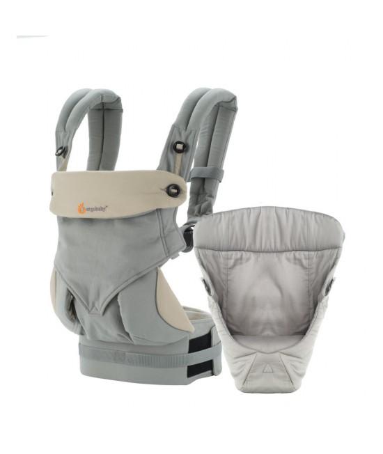ERGOBABY 四式360嬰兒揹帶 + 心連心嬰兒護墊 (灰色)