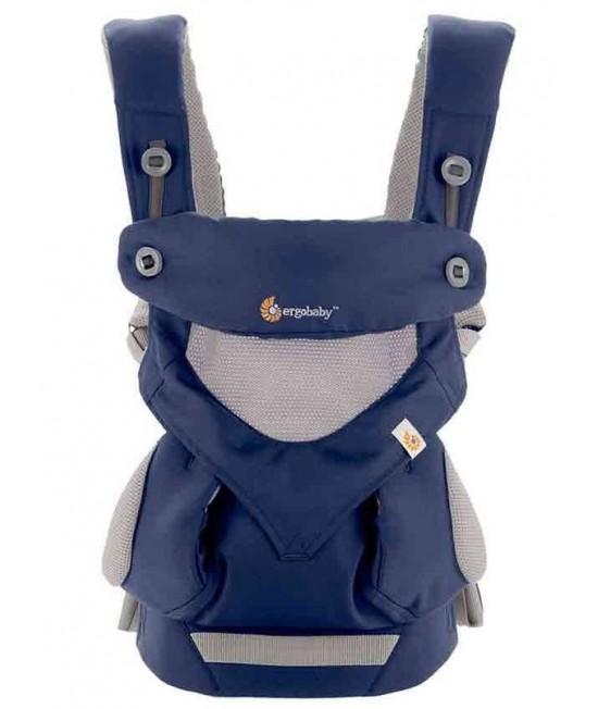 ERGOBABY 四式360透氣款嬰兒揹帶 - 法式藍
