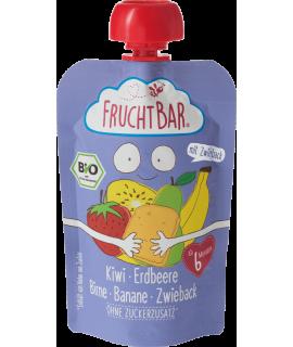 FRUCHTBAR 有機穀物果蓉 - 奇異果草莓脆餅 100g
