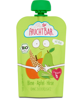 FRUCHTBAR 有機穀物果蓉 - 啤梨蘋果小米 100g