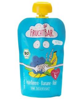 FRUCHTBAR 有機穀物果蓉 - 藍莓香蕉白米 100g