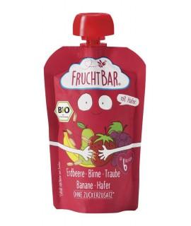 FRUCHTBAR 有機穀物果蓉 - 草莓啤梨燕麥 100g