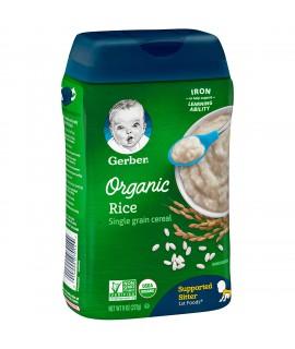 GERBER 有機單一穀物米粉 227g