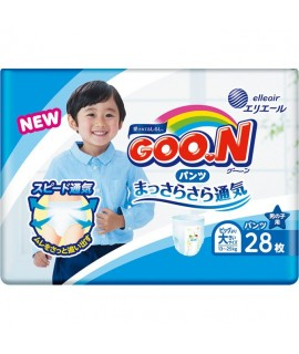 GOON 大王學習紙尿褲 BIG-L(XXL) 加加大碼男仔28片(13-25kgs)
