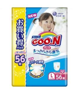 [JUMBO] GOON 大王學習紙尿褲 L 大碼女仔56片(9-14kgs)