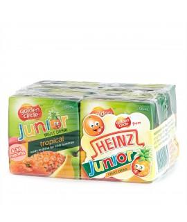 HEINZ亨氏 熱帶水果汁 150毫升x4盒