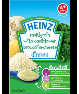 HEINZ亨氏 芝士蔬菜穀物米糊 125克
