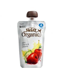 Heinz亨氏 有機唧唧裝蘋果、香蕉、牛油果蓉 120克