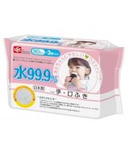 LEC 99.9%水份嬰兒手、口專用濕紙巾 80片 x 3包