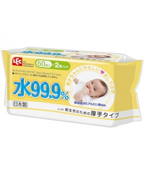 LEC  i-Plus 99.9% 水份 加厚嬰兒濕紙巾 60s x 2包