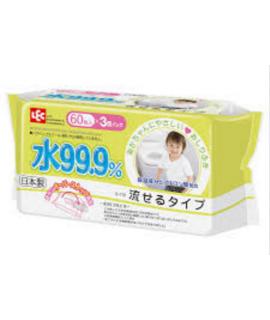 LEC  i-Plus 99.9%水份 如廁用嬰兒濕紙巾 60s x 3包