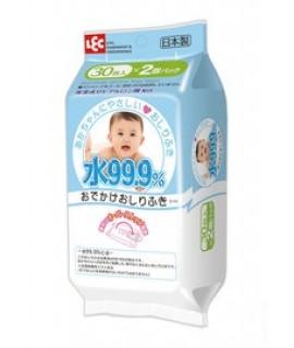 LEC i-Plus 99.9%水份嬰兒濕紙巾(便攜裝) 30s x 2包