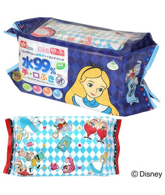LEC ALICE 99%水份嬰兒手、口專用濕紙巾 60片 X 3包