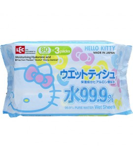 LEC HELLO KITTY 濕紙巾80S x 3包