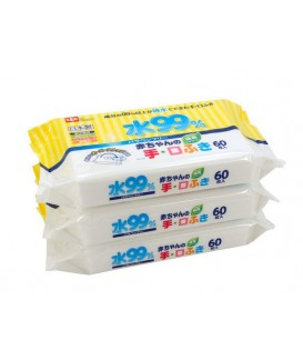 LEC WATER 99%WET TISSUES (FOR HANDS & MOUTH)  60PX3