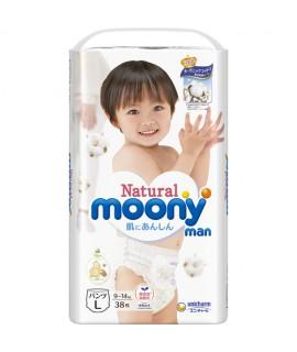 MOONY NATURAL有機棉 紙尿褲 L 大碼38片(9-14kg)