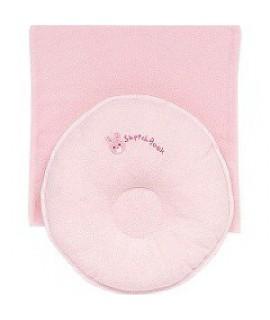 NISHIKAWA西川 嬰兒頭枕(中) - 粉紅色(連枕頭套) (4-12月適用)