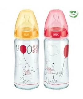 NUK PREMIUM CHOICE 迪士尼寬口玻璃奶瓶 240ML (矽膠奶咀) - 1個