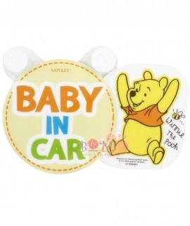 NAPOLEX BABY IN CAR小熊維尼貼紙