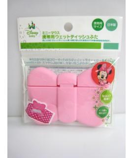 日本製NISHIKI 米妮粉紅色蝴蝶迷你濕紙巾蓋