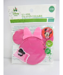 NISHIKI 米妮 便利濕紙巾蓋(深粉紅色)